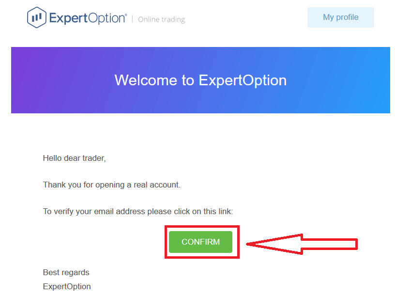How to Verify account in ExpertOption